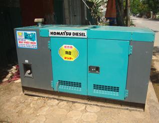Máy phát điện Komatsu đã qua sử dụng 30 kva